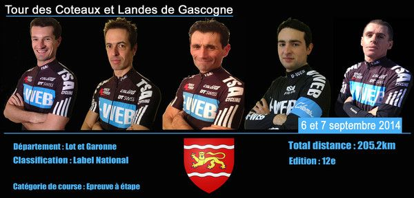 L'équipe pour le Tour des coteaux 2014